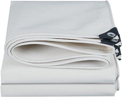 YFF-Bache LIYFF- épaisseur multifonctionnelle extérieure Blanche de Bache d'épaisseur de Bache DE 0.6mm d'épaisseur de Bache pour Le Camping, Pêche, Jardinage