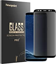 Galaxy S9 Privacy Screen Protector, Newspoint [3D Curved Touch ] Anti Spy Tempered Glass, Anti Peeking Screen Protector for Samsung Galaxy S9 (Black)