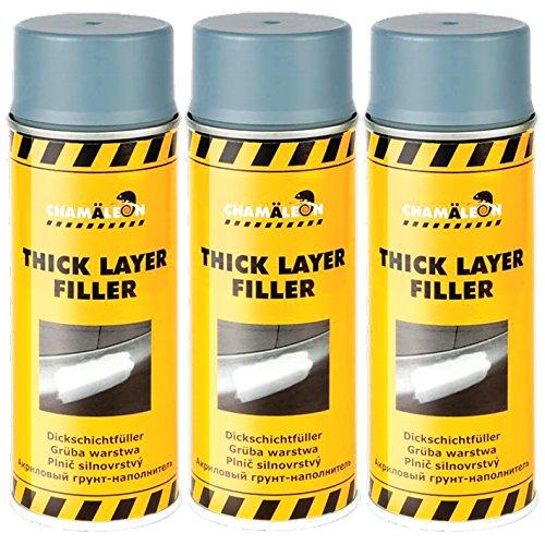 Chamäleon 1K Lot de 6 flacons de Spray de 400 ML Gris
