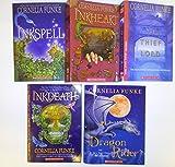 Cornelia Funke 5 book set: Inkheart Trilogy (inkspell, inkheart, inkdeath), Dragon Rider, Thief Lord