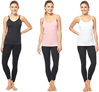 3 Pack - Nursing Cami Tank Top with Build-in Maternity Bra Pregnant Women Breastfeeding Camisole