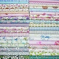 50ピース25センチ* 25センチトップコットン生地バンドル正方形DIY縫製パターンキルティング用品