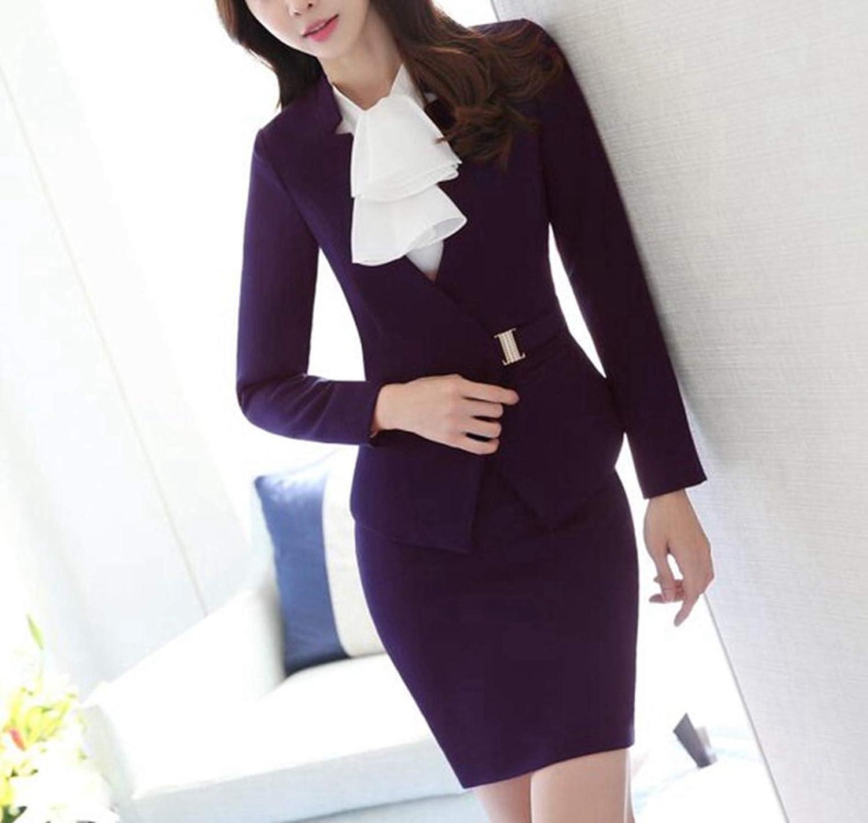 Kongsta Women Business Pants Suits Set Office Plus Size Pants Suits Blazer and Trousers