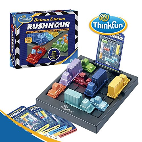 ThinkFun Rush Hour Deluxe Traffic Jam Logic Game and STEM Toy – Tons of Fun with Over 20 Awards Won International for Over 20 Years