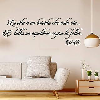 Adesivi Murali Frasi la Vita è un brivido che vola via citazione wallstickers frase Adesivi da Muro Wall Sticker follia de...