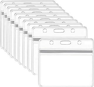 Porte-Badge Transparent, 10 Pcs Porte-Badges en Plastique étanche porte-cartes d'identité pour Carte d'étudiants, Carte de...