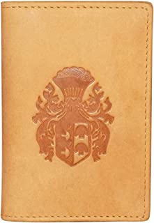 Style98 Tan Leather Card Holder Card case Money Purse Wallet-3264QL12-HJ