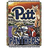 NORTHWEST NCAA Pittsburgh Panthers Woven Tapestry Throw Blanket, 48' x 60', Home Field Advantage