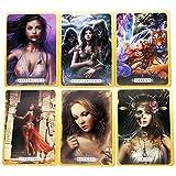 Table one Tarot Cards, Alltägliche Hexen-Orakelkarten, Brettspiel, Feiertags-Familien-Party-Geschenk, Wahrsagetarot (Color:EIN)