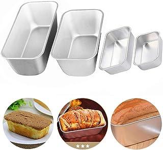 REYOK Moldes de Pan,4 pcs Acero al Carbono Moldes para Pan,Recubrimiento Antiadherente Molde para Pasteles,Rectángulo Mold...