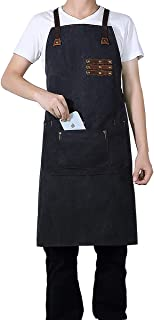 CestMall werkschort, canvas-stof, voor zwaar gebruik, waterbestendig, gereedschapsschort met zakken, uniseks pasvorm, voor...