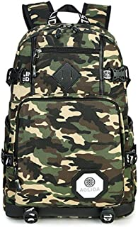 Camouflage Canvas Student Bag Large-Capacity Computer Bag Outdoor Hiking Bag 19 Inch QDDSP