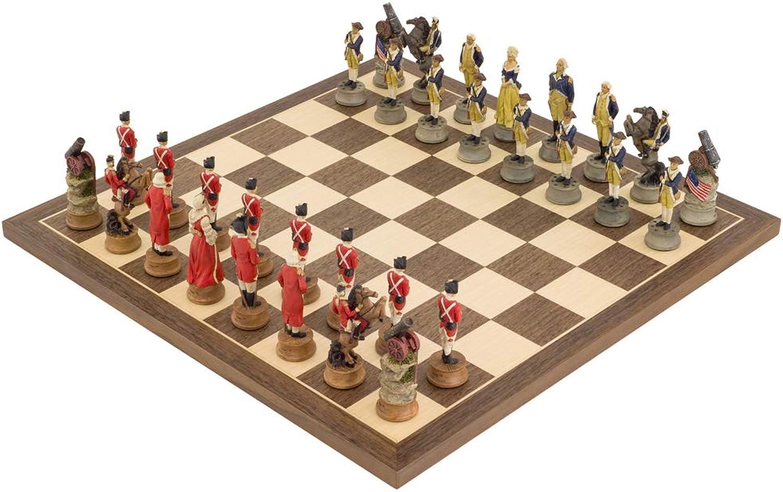 The Regency Chess Company Ltd The American Revolution handbemalt stilisiert Schach festgelegten italfama B07C4ZSKPX  Sonderaktionen zum Jahresende     | Exquisite (mittlere) Verarbeitung