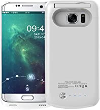 Idealforce Samsung Galaxy S7 Battery Case,4200mAh External Power Bank Cover Portable Charger Protective Charging Case for Samsung Galaxy S7 (White)