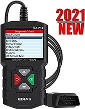 EDIAG YA201 OBD2 Scanner، Automotive Motor Fault Code Reader CAN Diagnostic Scan Tool for Mode 6 EVAP Test O2 Sensor عملکرد کامل OBDII - به روز رسانی رایگان مادام العمر