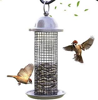 Bird Feeder for Outside, Bird Feeder Wild Bird Seed Feeder for Garden, Yard, Steel Hanger Weatherproof and Water Resistant...