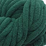 1KG Green Super Chunky Chenille Yarn for Extreme...