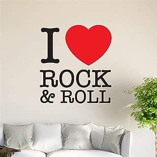 gaoeer I Love Rock n roll Home Decor