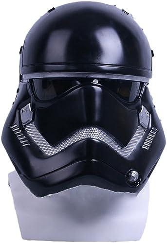 nihiug Star Wars Weiß Soldat Helm Maske Force Awakening Sturmhaube Helm Cos Star Wars Halloween Helm Requisiten,schwarz-OneGröße