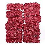 lzl 144pcs foam teddy bear rose decoration pe foam rose head fake flower handmade wedding decoration srapbooking gift box diy wreath (color : teal)