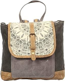 Myra Bag Daisy Delight Upcycled Canvas Backpack S-1287