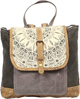 Myra Bag Daisy Delight Upcycled Canvas Backpack S-1287