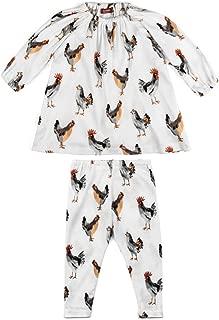 white chicken cotton dresses