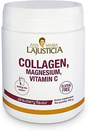 ANA MARIA LAJUSTICIA Collagen with Magnesium and Vitamin C Strawberry Flavor, 350 G