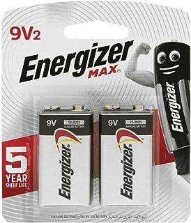 Energizer 522 BP2 9V Max Alkaline Battery, Pack of 2