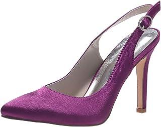 Vimedea Womens Wedding Pointy Toe Dress Shoe Heeled Pump Party OL Court Slip On 0608-20