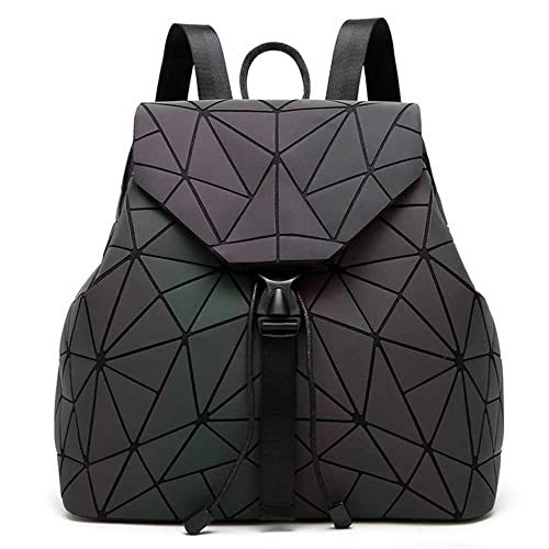 d27fe91ef18b DIOMO Geometric Lingge Women Backpack Luminous Mens Travel Shoulder Bag  Rucksack (Luminous NO.3