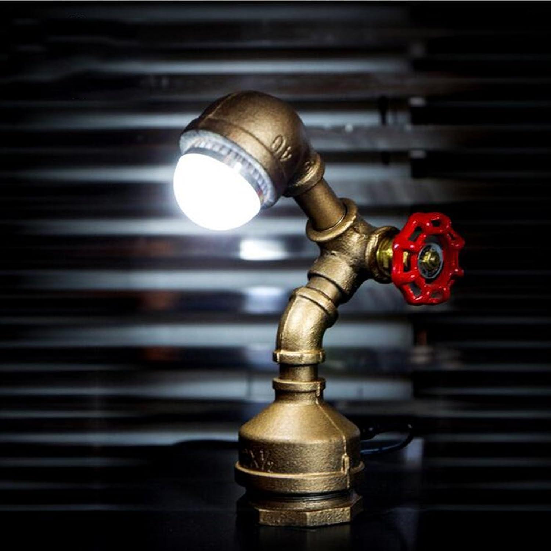 Tischlampe Loft American Retro Persnlichkeit Kreative Wasserleitung Licht Bar Zhler Schlafzimmer Nachttischlampe Dekorative Led-Lampe