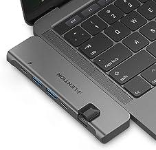 lention USB-C Hub portátil con 40Gbps Thunderbolt 3, 100W Power Delivery, 4K HDMI, 2 USB 3.0, Tipo C, Adaptador Gigabit Ethernet Compatible 2019-2016 MacBook Pro 13/15, Nuevo MacBook Air (Space Gray)