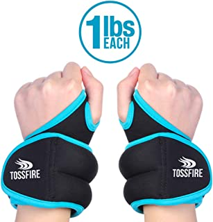 Wrist Weight Set Pair of 1 lbs (1 lb Each) with Hole for Thumb and Thumb Lock Design for Man Women,  Great for Running Weightlifting Training Gymnastic Aerobic Jogging and Tremor Therapy