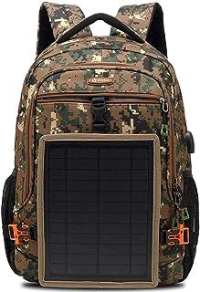 7a5ca8d5ac WRMING Charge Solaire Sac à Dos Sac de Camping en Plein air Multifonctionnel  Panneau Solaire Amovible