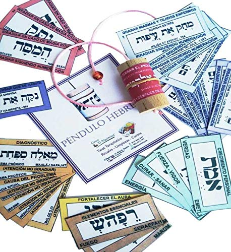 El Sendero, Sano y Natural PENDULO Hebreo, con Instrucciones y Tarjetas