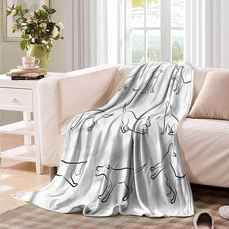 Oncegod Nap Blanket Dog Digital Puppy Dog Super Soft Cozy 60  W x 51  L