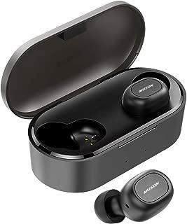 MUSON Move 完全ワイヤレスイヤホン Bluetooth 5.0 ワイヤレス イヤホン 高音質 AAC対応 35時間再生 自動ペアリング 連続再生 左右独立 両耳 片耳 防水 Hi-Fi 小型 軽量 TWS ブルートゥース 左右分離[メーカー1年保証] ブラック