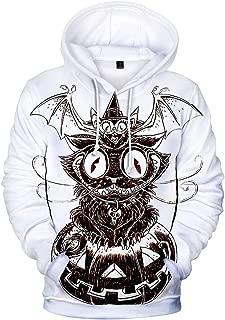 Men's Scary Halloween 3D Print Costumes Tops Long Sleeve Hooded Jacket Blouse Sweatshirt With Pocket