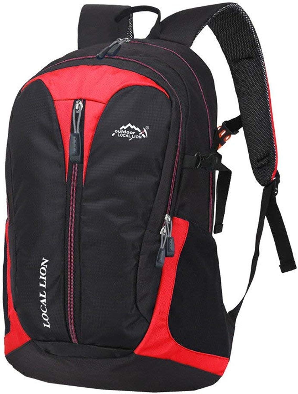 Lounayy Sport Outdoor Rucksack Reisen Mode Unisex Stylisch Leichte Wandern Wasserdichte Atmungsaktive Trekking Rucksack (Farbe   Rot, Größe   One Größe)