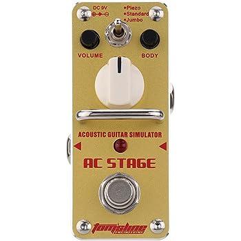 ammoon AROMA AAS-3 AC Etapas Simulador de Guitarra Acústica Mini ...