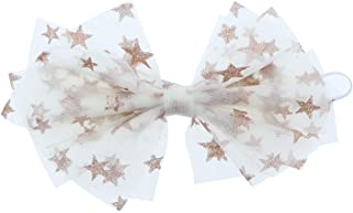 Gorgeous Special Occasion Tulle Bow With Gold Stars Baby Headband