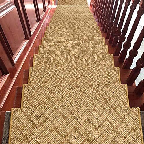 Zhengowen Teppich Indoor Outdor Rechteckige Treppenstufenmatte rutschfeste Matte Treppenteppich Home Stair Mats Kleberfrei Selbstklebend für Home Stair Carpet Vorleger für Wohnzimmer