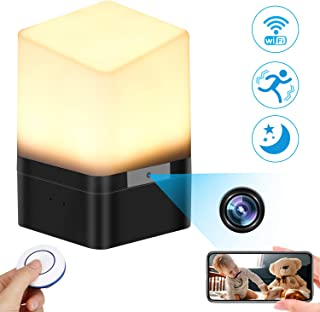 Spy Camera Lamp, KAUPOONK Hidden Camera FHD 1080P WiFi Security Camera Micro Motion Detection Surveillance Cam Indoor USB Lamp Video Recorder for Home Employees Car Office Kids Nursery