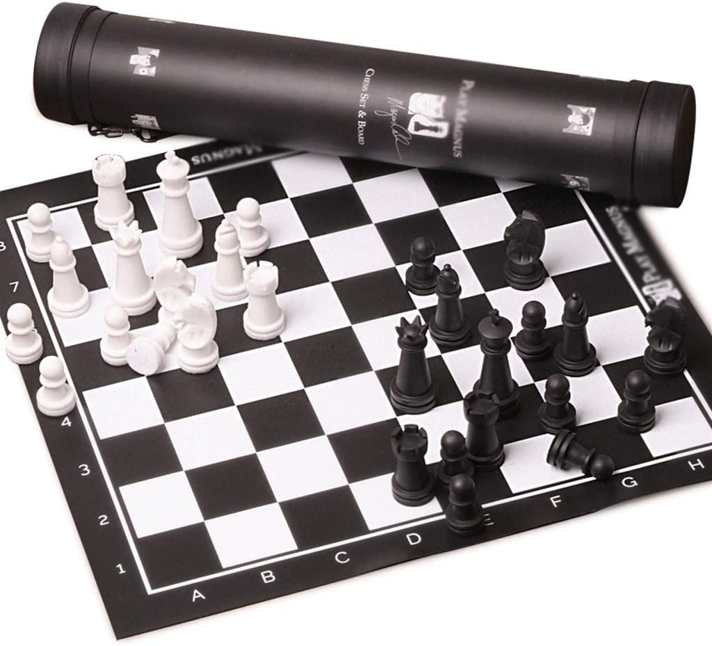 Reservation Toys Outstanding Games Chess Travel Leather Plast Board Set,Portable