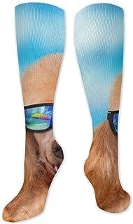 TongGuYunShangMaoYouXianGongSi, Calcetines Altos ~ Calcetines coloridos divertidos para perros y gatos de verano para mujer Calcetín 50CM
