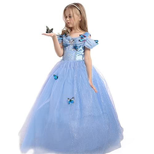cc464d46bf JiaDuo Girls Princess Cinderella Dress Butterfly Party Costumes