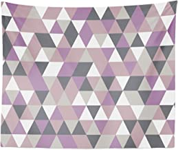 Lunarable Geometric Tapestry King Size, Abstract Triangles Polygon Art Modern Fashion Avant Garde Contrast, Wall Hanging Bedspread Bed Cover Wall Decor, 104