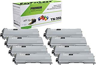 PayForLess Compatible TN350 TN-350 Toner Cartridge 8PK for Brother HL-2070N HL-2040 DCP-7020 MFC-7420 MFC-7225N MFC-7820N Intellifax-2820 Printers