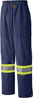 Pioneer Easy Boot Access 5 Pockets Work Pants, Adjustable Elastic Waist, Reflective Stripe, NavyBlue, M, V1070380-M